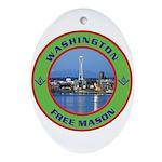 State of Washington Free Mason Oval Ornament