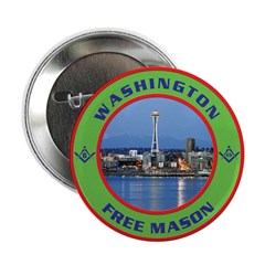 "State of Washington Free Mason 2.25"" Button (100"