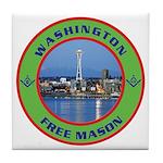 State of Washington Free Mason Tile Coaster