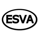 Oval ESVA Eastern Shore of Virginia Decal
