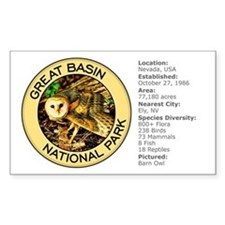 Great Basin NP (Barn Owl) Rectangle Decal