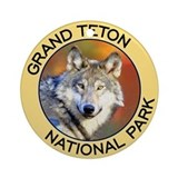 Grand Teton NP (Wolf) Ornament (Round)