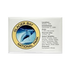 Glacier Bay NP (Humpback Whale) Rectangle Magnet