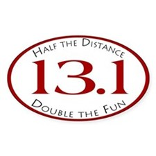13.1 - Half the Distance Oval Decal