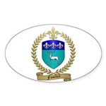 FUSELIER Family Crest Oval Sticker