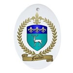 FUSELIER Family Crest Oval Ornament