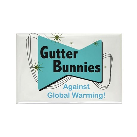 Gutter Bunny Rectangle Magnet