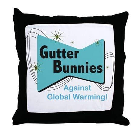 Gutter Bunny Throw Pillow