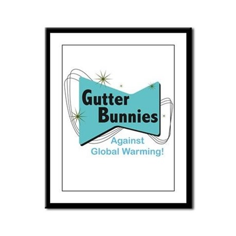 Gutter Bunny Framed Panel Print