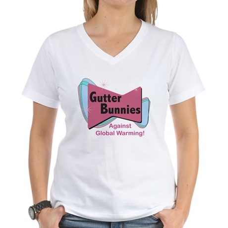 Gutter Bunny Women's V-Neck T-Shirt