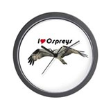 I Love Ospreys Wall Clock