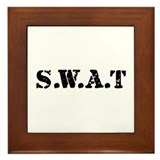 SWAT team Framed Tile