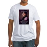 Jean Jacques Rousseau: Education Fitted T-Shirt