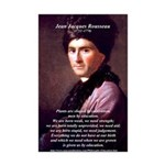 Jean Jacques Rousseau: Education Mini Poster Print