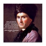 Jean Jacques Rousseau: Education Tile Coaster