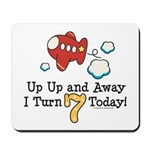 7th Birthday Airplane Mousepad