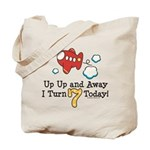 7th Birthday Airplane Tote Bag
