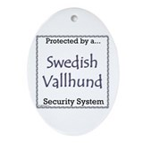 Vallhund Security Oval Ornament