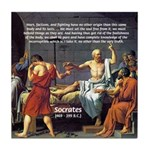 Death of Socrates Tile Coaster
