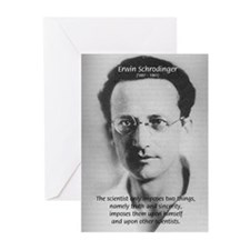 Erwin Schrodinger: Truth Greeting Cards (Package o