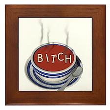 Alphabet Soup Bitch Framed Tile