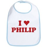 I LOVE PHILIP Bib