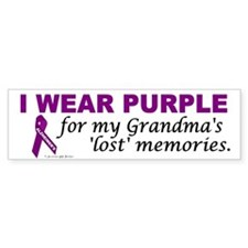 My Grandma's Lost Memories Bumper Bumper Sticker