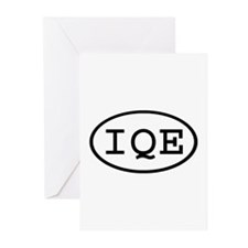 IQE Oval Greeting Cards (Pk of 20)