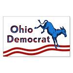 Rectangular Ohio Democrat Sticker