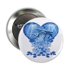 Dolphin Hearts Button