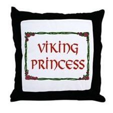 VIKING PRINCESS Throw Pillow