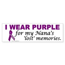 My Nana's Lost Memories Bumper Bumper Sticker