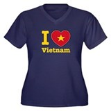 I love Vietnam Women's Plus Size V-Neck Dark T-Shi