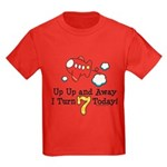 7th Birthday Airplane Kids Red T-Shirt