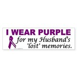 My Husband's Lost Memories Bumper Car Sticker
