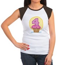 4th Birthday Cupcake Tee