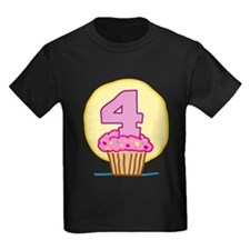 4th Birthday Cupcake T