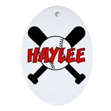 Haylee Baseball Oval Ornament