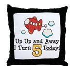 5th Birthday Airplane Throw Pillow
