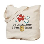 5th Birthday Airplane Tote Bag