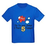 5th Birthday Airplane Kids Dark T-Shirt