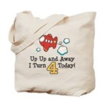 4th Birthday Airplane Tote Bag