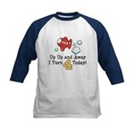 4th Birthday Airplane Kids Baseball Jersey