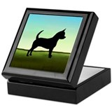 Grassy Field Chihuahua Keepsake Box
