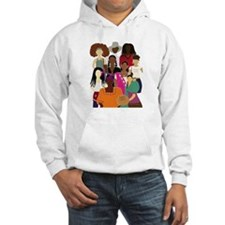 Brown Lady Collage Hoodie