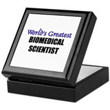 Worlds Greatest BIOMEDICAL SCIENTIST Keepsake Box