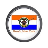 Bronx NY Flag Wall Clock