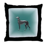 Emerald & Silver Greyhound Throw Pillow