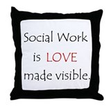 Social Work is Love Throw Pillow