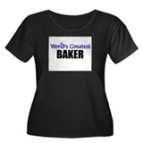 Worlds Greatest BAKER Women's Plus Size Scoop Neck